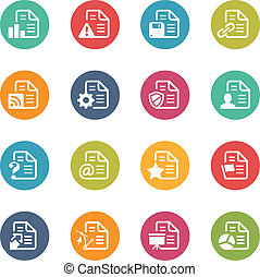 Documents Icons - 2 -- Fresh Colors - Vector Icons and...