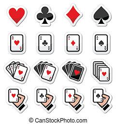 Playing cards, poker, gambling icon