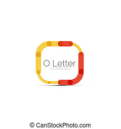 Minimal font or letter logo design isolated on white