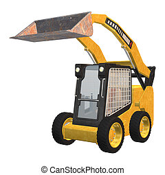 Skid Steer Loader - 3D digital render of a skid steer loader...