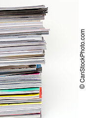 Magazines Stack - A large stack of magazines piled high....