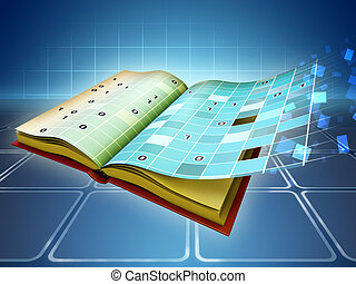 E-book - The transition from traditional book to e-book...