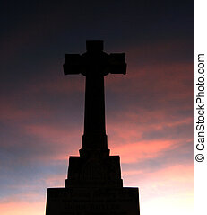 Cross Sunset Background