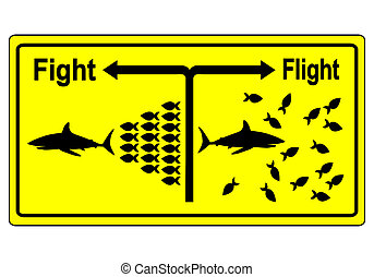 Fight or Flight Concept - Business metaphor for team...
