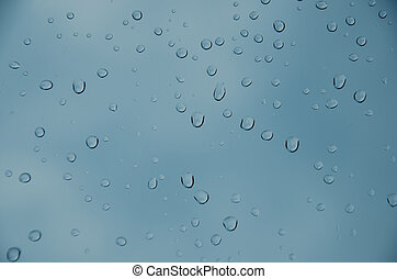 Drop water  - abstract blue color background with drop water