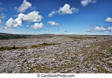 The Burren National Park limestone landscape in Ireland