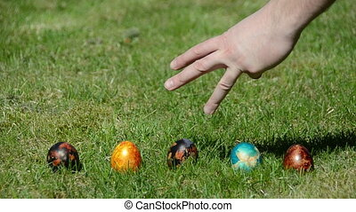 Easter family eggs game - Traditional family Easter game...