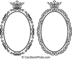 frames - decorative frames with crown