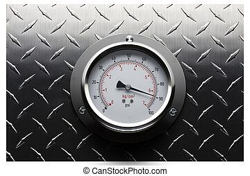 Pressure gauge still life - Pressure gauge mounted on...