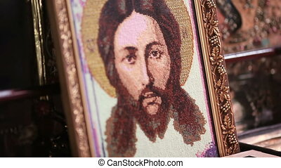 Orthodox Embroidered icons - Embroidered Icon of Christ a...