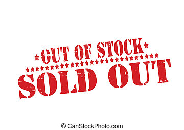Sold out - Rubber stamp with text sold out inside, vector...