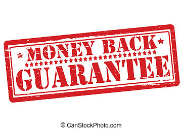 Money back guarantee - Rubber stamps with text money back...