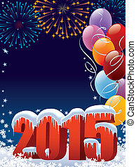 New Year decoration - New Year 2015 decoration with copy...