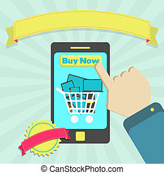 Buy electronic through cellphone