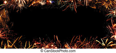 frame of fireworks