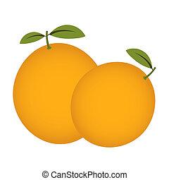 Orange fruit isolated on a white background.