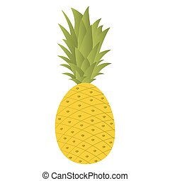 Pineapple isolated on a white background.