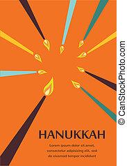 Happy Hanukkah greeting card design, jewish holiday. Vector...