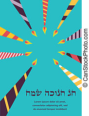 Happy Hanukkah greeting card design, jewish holiday. happy...