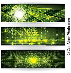 Abstract futuristic green bright background illustration -...