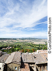 Landscape Montepulciano - View from Montepulciano Tuscany,...