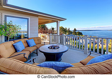 Cozy patio area with Puget Sound view. Tacoma, WA - Cozy...