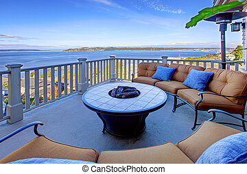 Cozy patio area with Puget Sound view Tacoma, WA - Cozy...