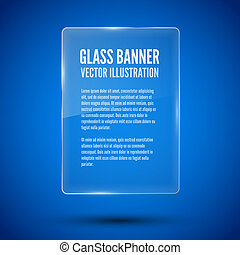 Glass framework Vector illustration - Glass banner template,...
