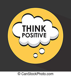 think design  - think graphic design , vector illustration