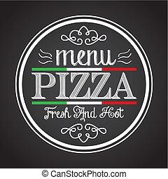 pizza design  - pizza graphic design , vector illustration