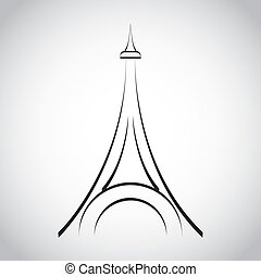 eiffel tower design - eiffel tower graphic design , vector...