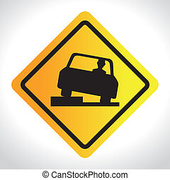 Road design over white background, vector illustration