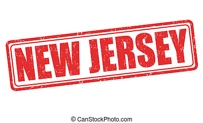 New Jersey stamp - New Jersey grunge rubber stamp on white...