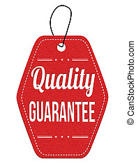 Quality guarantee red leather label or price tag