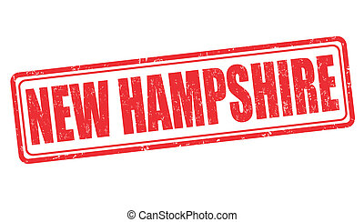 New Hampshire stamp - New Hampshire grunge rubber stamp on...