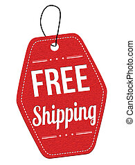 Free shipping red leather label or price tag