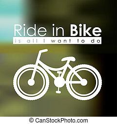 Bike design over blur background, vector illustration