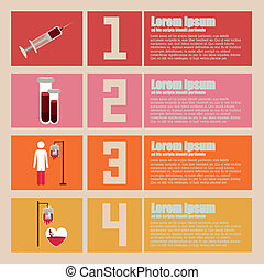 Infographic design over beige background, vector...