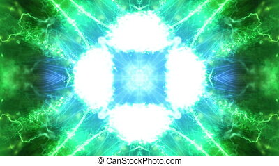 Green Cosmic VJ Loop Abstract Animated Background