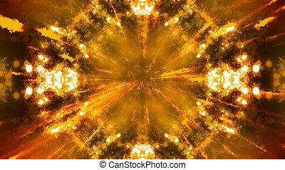 Orange Particle Electric Rays Loop