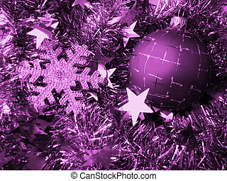 Christmas glass sphere of dark color with a pattern on a...