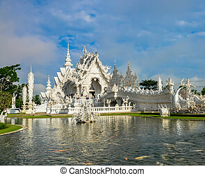 Wat Rong Khun in Chiang Rai, Thailand, the beautiful temple...