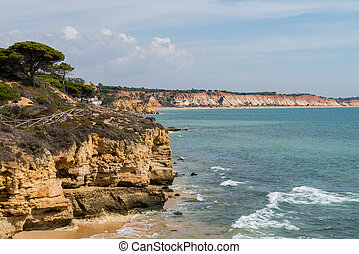 Albufeira, South Portugal - Golden beaches and sandstone...