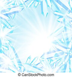 Sparkling ice crystals - Winter vector background with cool...
