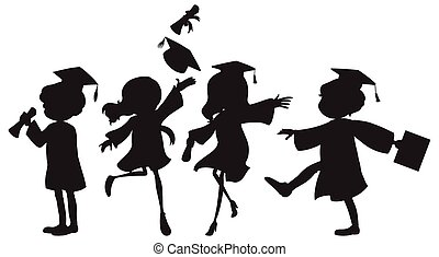 Graduation - Illustration of people graduating