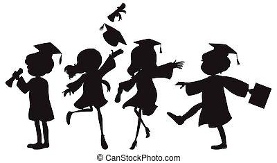 Graduation - Illustration of people graduating