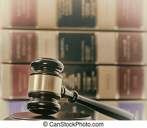 Legal law concept gavel books