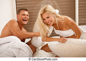 Fun Time In The Bedroom enjoyed by the young couple