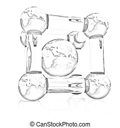 Abstract molecule model of the Earth