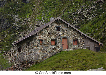 Mountain Hut at the Stubai Glacier